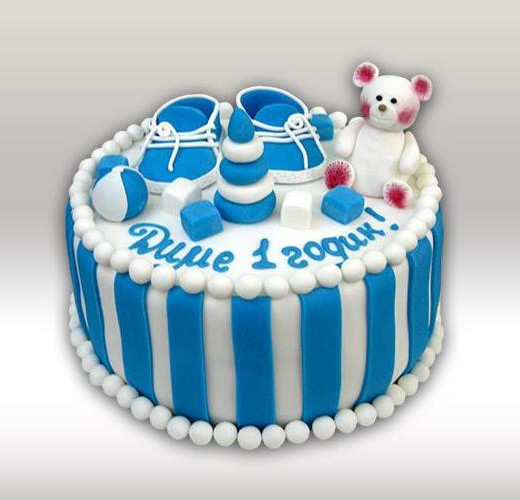 Торт для мальчика на 1 годик
