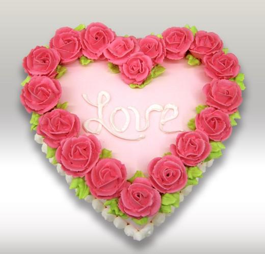 Торт сердечка love