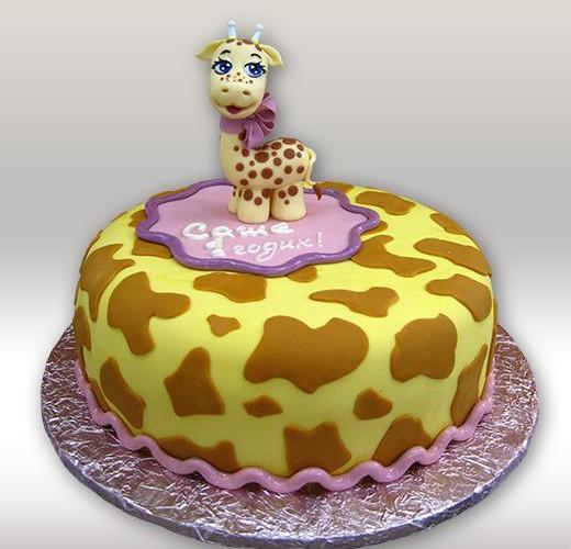 Торт с жирафом