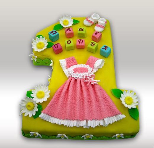 Торт единичка для девочки