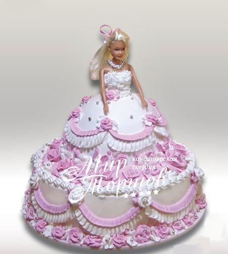 Торт кукла барби