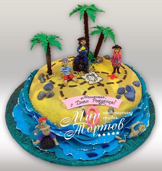 Торт пираты на острове