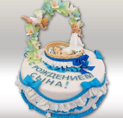 Торт с ангелочками