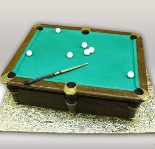 Торт билярдный стол
