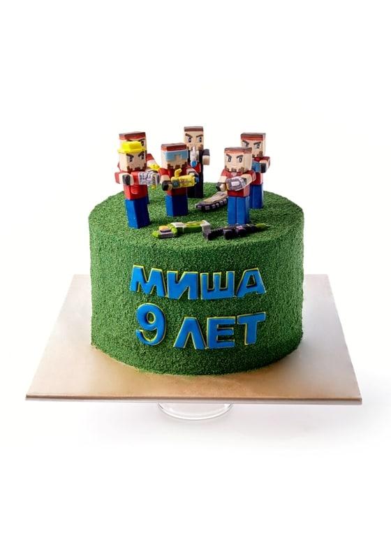 Торт Человечки Майнкрафт