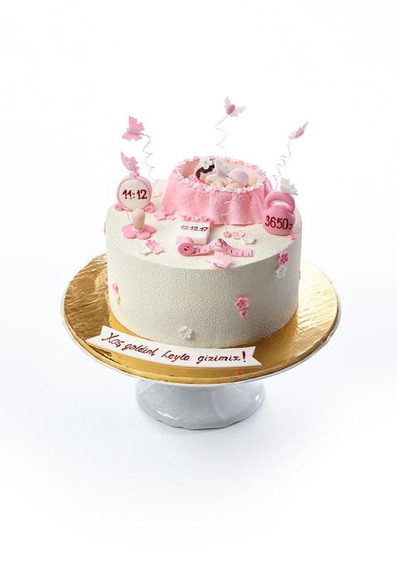 Торт Новорожденной девочке