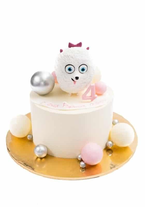Торт с Белой собачкой