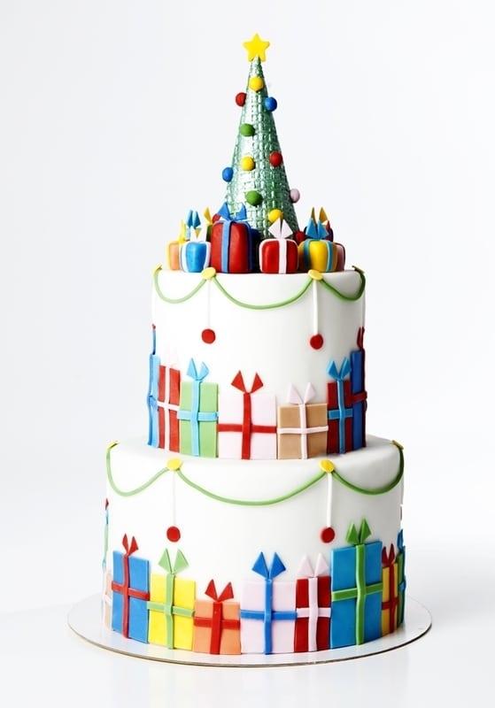 Торт с Новогодней Елкой