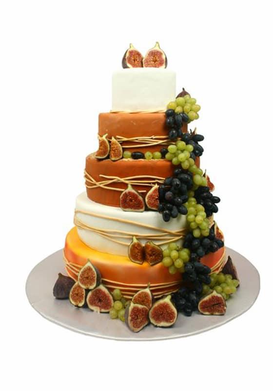 Свадебный торт Фруктовая сказка