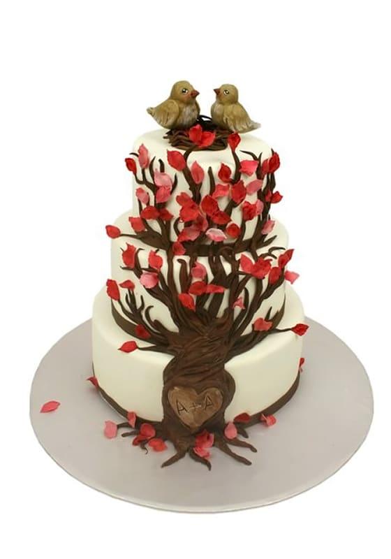 Свадебный торт Гнездо на дереве