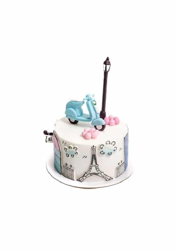 Торт с Эйфелевой башней