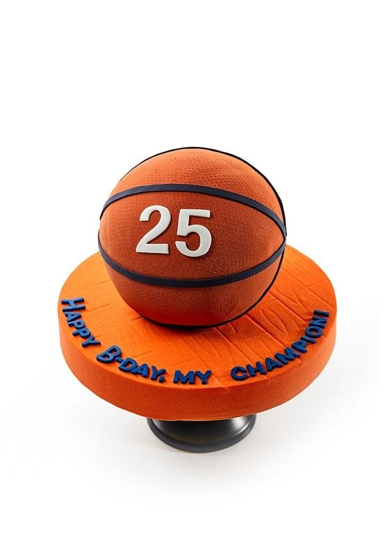 Торт в виде Баскетбольного мяча