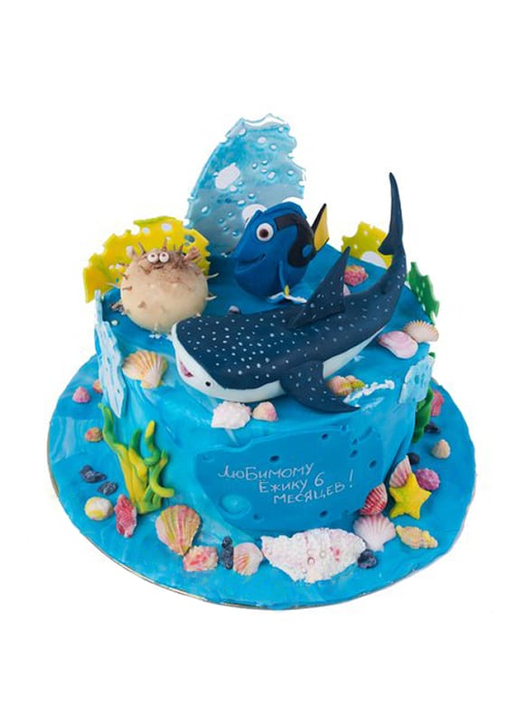 Детский торт с Рыбками