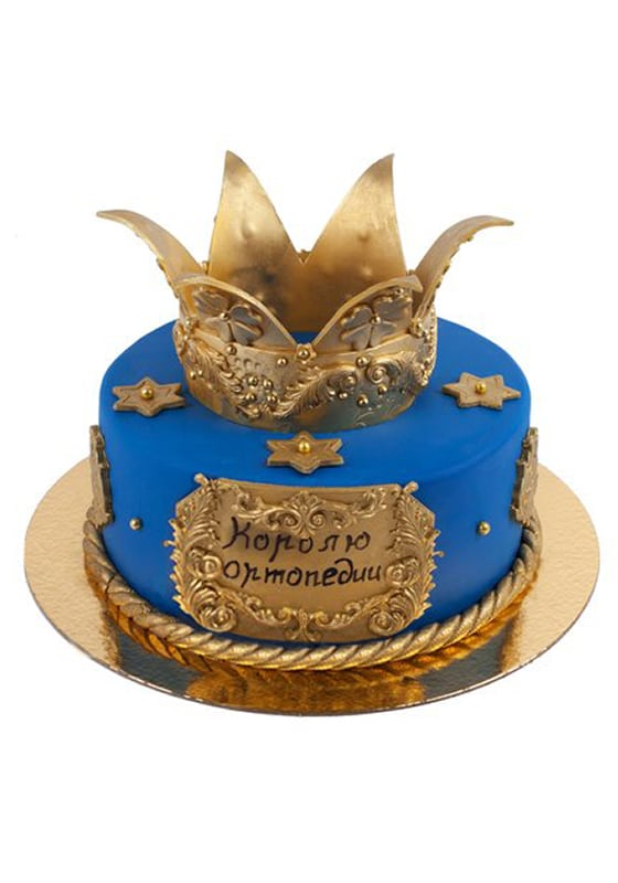 Синий торт с Короной
