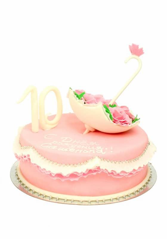 Торт для девочки с Зонтом