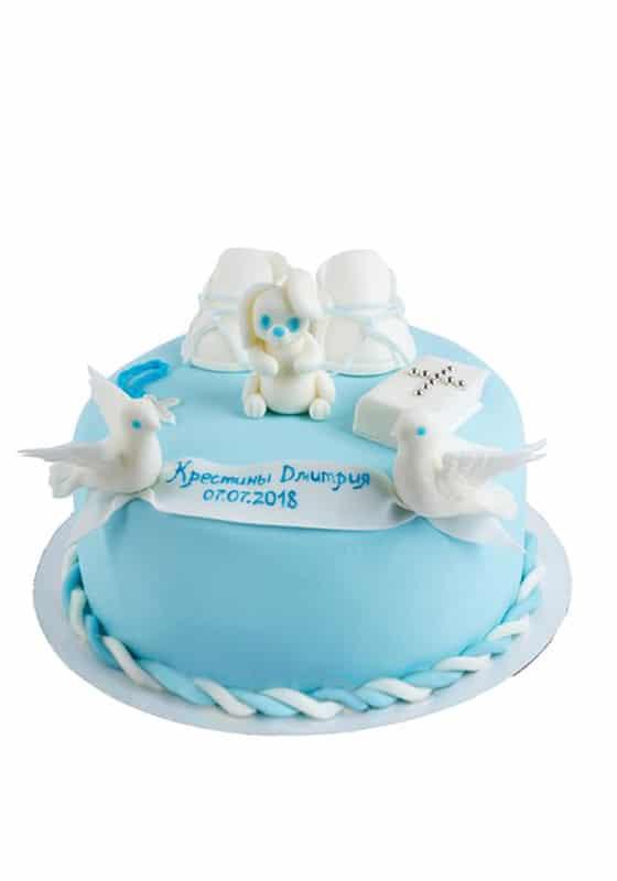 Торт на Крестины с пинетками