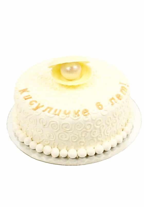 Торт Ракушка с жемчужинкой