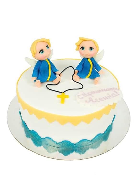 Торт с Ангелочками на крещение