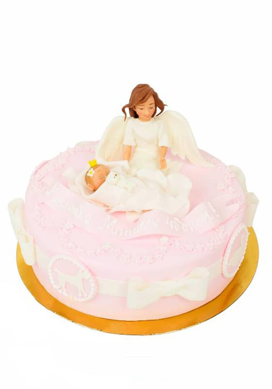 Торт с Ангелом и младенцем