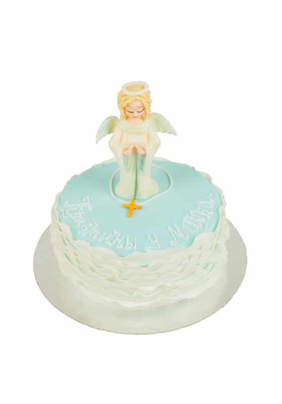 Торт с Ангелом на крестины