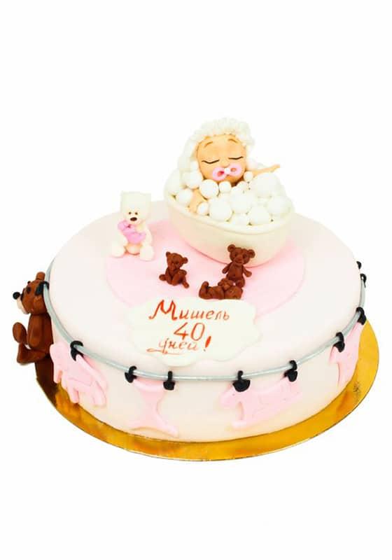 Торт с Девочкой в ванной