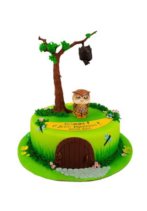Торт с милой Совой