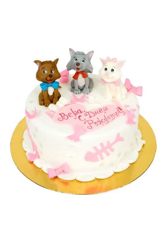 Торт с милыми Котятами