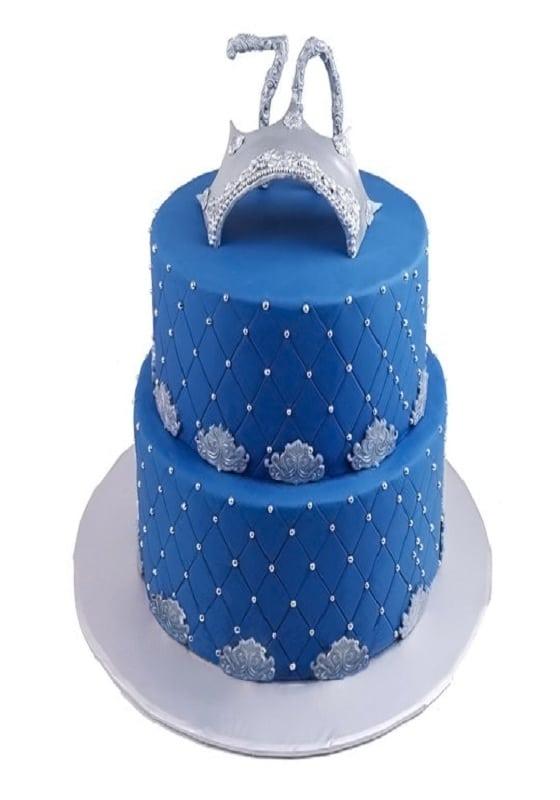 Торт Синий на 70 лет