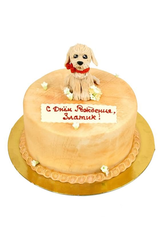 Торт со Щеночком