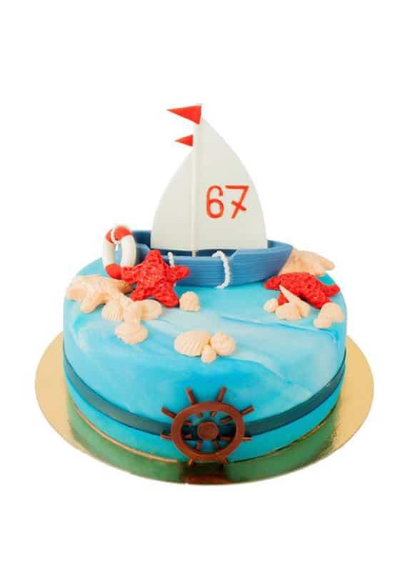 Торт со Штурвалом и кораблем