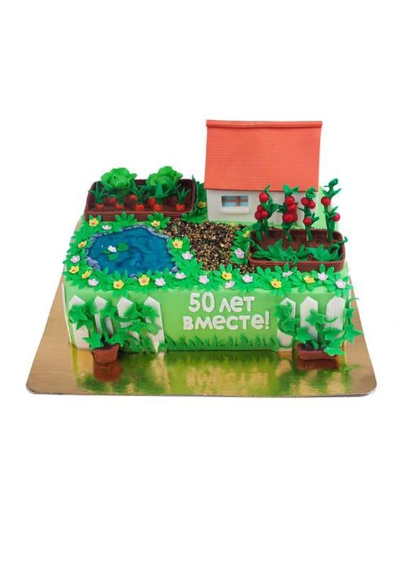 Торт в виде Дачного участка