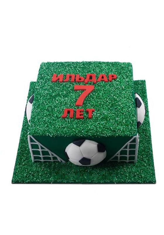 Торт в виде Футбольного поля