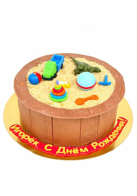 Торт в виде Песочницы