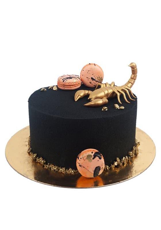 Торт Велюровый с золотым Скорпионом