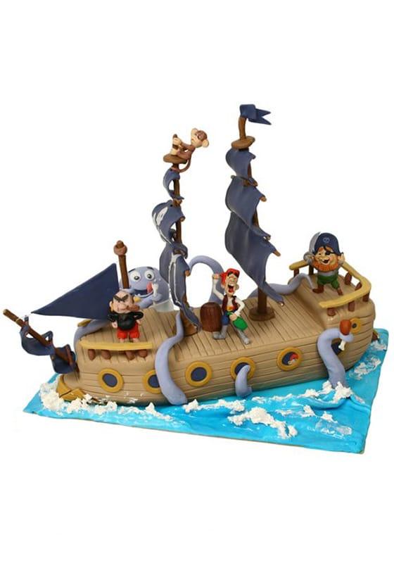 Торт Веселые пираты на корабле