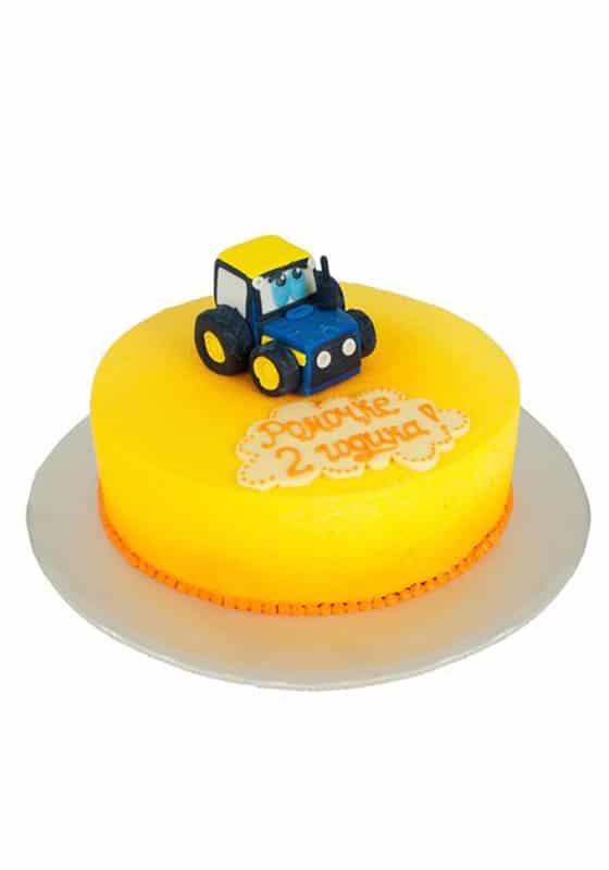 Велюровый торт с Трактором