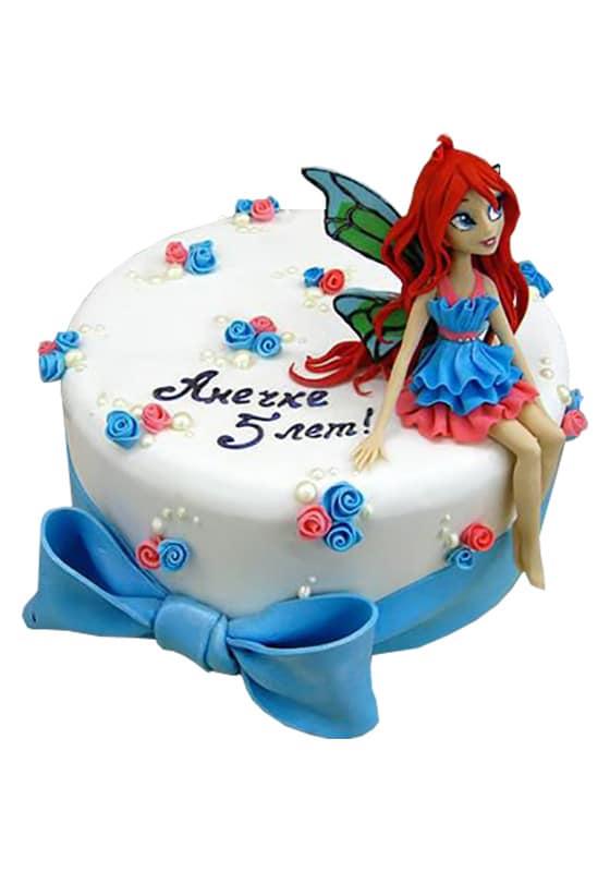 Торт с фигуркой феи