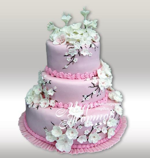 Свадебный торт ветка сакуры