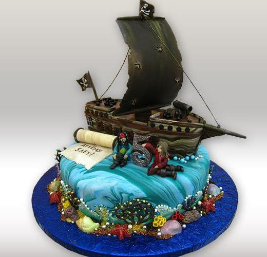 Торт с пиратам Джек Воробей