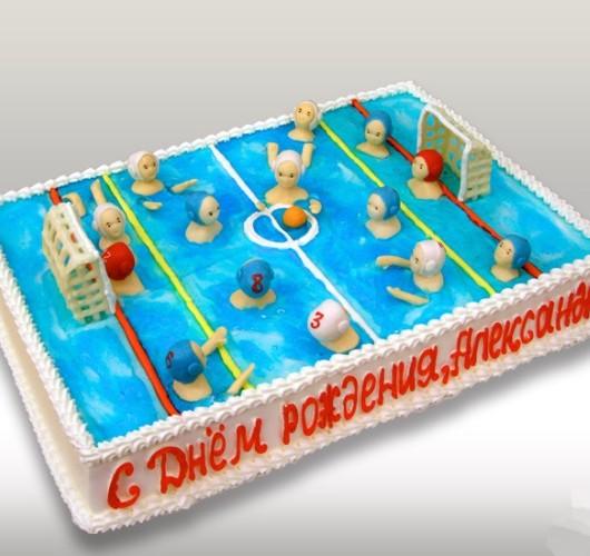 Торт в виде бассейна