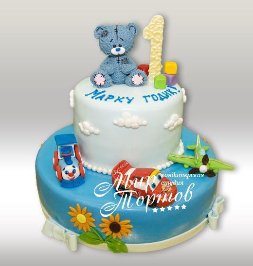 Торт с игрушками