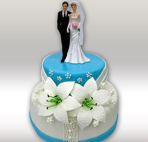 Свадебный торт жених и невеста