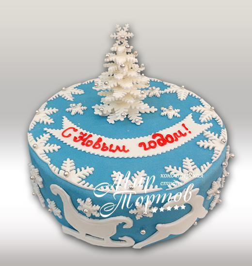 Торт с елочкой