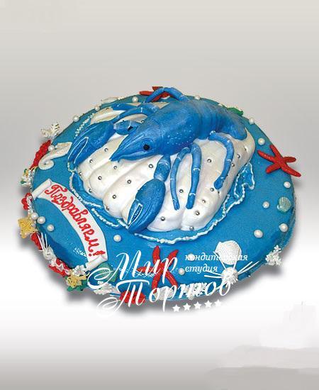 Торт морская тематика