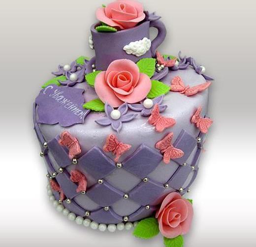 Торт с розой