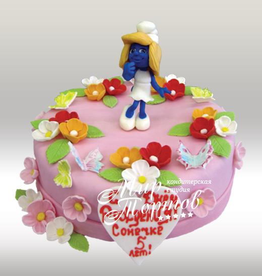 Торт со смурфеттой