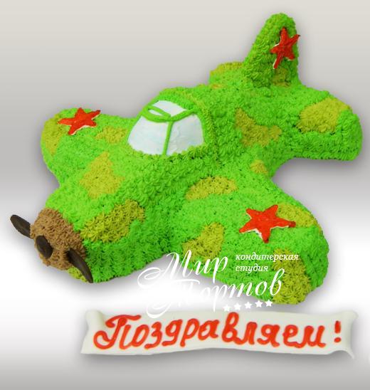Торт самолетик