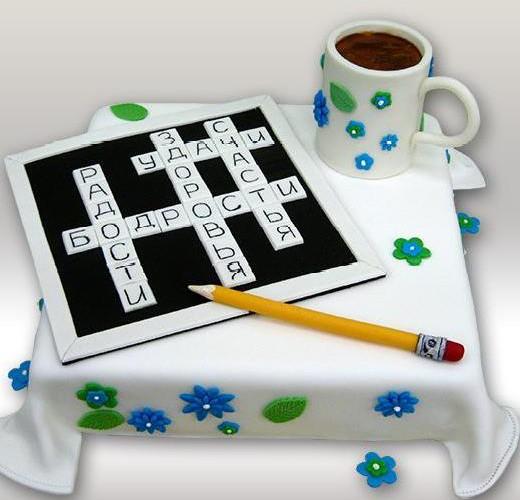 Торт кроссворд