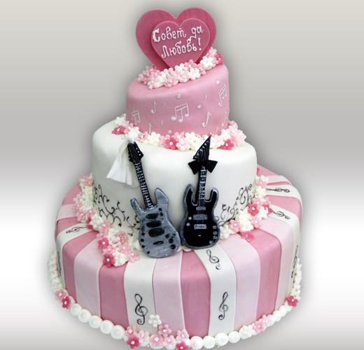 Свадебный торт с нотами