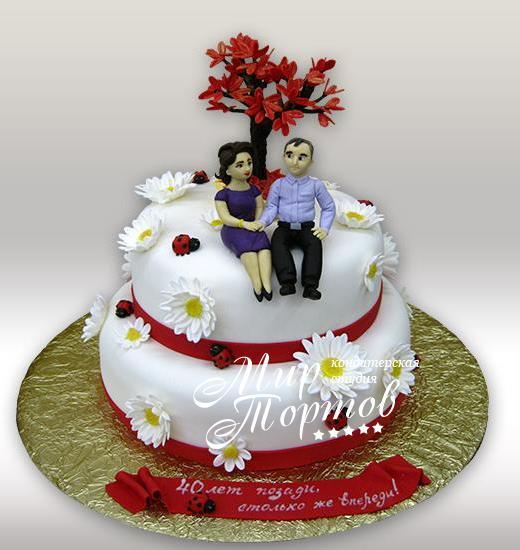 Торт на годовщину свадьбы 40 лет
